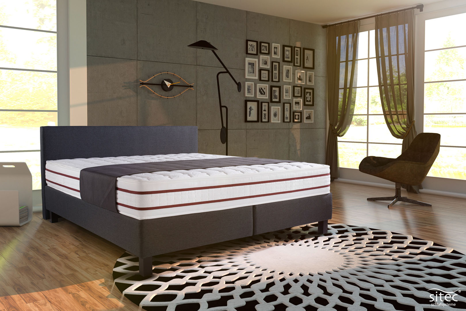 Boxspringbett London Bordato mit 7-Zonen
