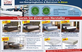 Sitec Betten und Matratzen in Büren im Werksverkauf