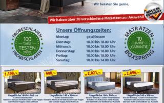 Werksverkauf in Büren von Sitec bietet Top Angebote für Matratzen und Betten