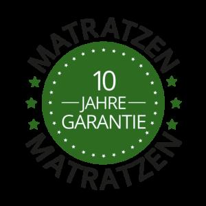 10 Jahre Garantie auf Matratzen von Sitec - Button