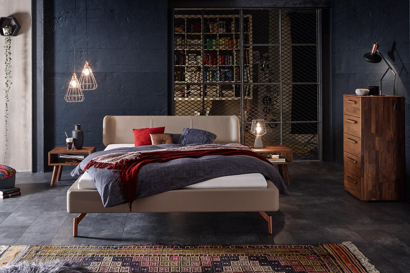 modernes Polsterbett mit Bettkonfigurator bei Sitec designen